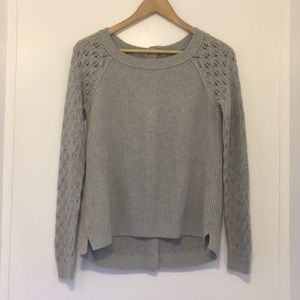 Ann Taylor Loft grey knitted sweater size small